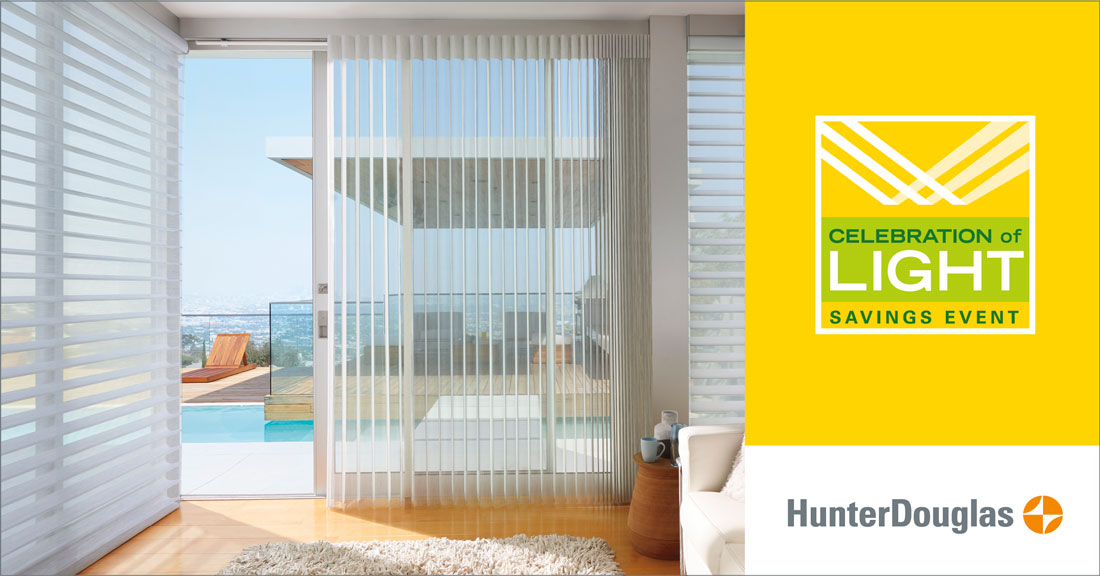 Hunter Douglas Rebate $100 thru June 25, 2018