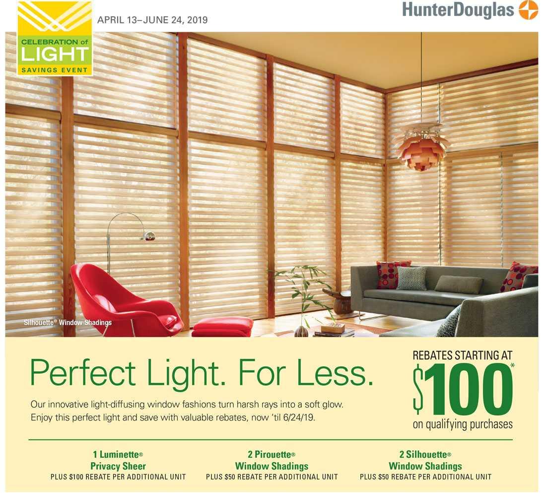 Hunter Douglas Celebration of Light Event - Rebates starting at $100